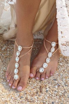 Embrace Barefoot Sandals Gold by Forever Soles. From our new Luxe Tropical Barefoot Sandal range. Also avail. in Silver! For the island beach bride. Shop online now! Discount code: FSPINTEREST. xx