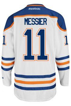 Edmonton Oilers VINTAGE Mark MESSIER  11  C  Official Away Reebok Premier  Replic CoolHockey 2f891d203