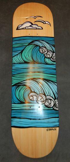 hand painted skateboard for sale - Recherche Google