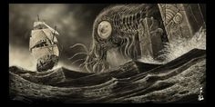 Cthulhu 1790. by fiend-upon-my-back.deviantart.com on @deviantART