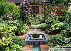 beautiful backyard designs with shade plants