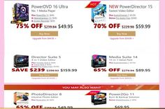 You can save Up to 75% On CyberLink Promo Codes It is one of the best offer on CyberLink software and this deals give 75% discount offers in multimedia software. you can visit on promoocodeds.com website for more details about offers.