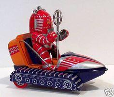 Tin Robot in Space Car