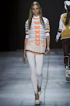 Alexander Wang love this, but what's all this wet hair on the runway...I like it