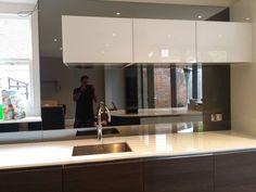 Kitchen Backsplash Uk antelope mirror stripes coloured glass kitchen splashback