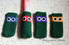 Crochet Popsicle Cozy TMNT by UnforgettableStitch on Etsy