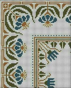 Discover thousands of images about Motif Cross Stitch Borders, Cross Stitch Flowers, Cross Stitch Designs, Cross Stitching, Cross Stitch Embroidery, Cross Stitch Patterns, Embroidery Stitches Tutorial, Embroidery Patterns, Cross Stitch Cushion