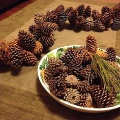 Add rustic charm to your holiday decor with this simple DIY pine cone garland.