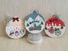 Here are some Christmas tags that I made recently. I wanted to use my stamps and dies and create personalized tags for my holiday Christmas wrapping. I used my Lawn Fawn stitched circle tag die a…