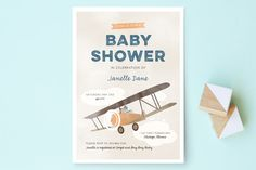 Pilot Baby Baby Shower Invitations by Bethany Anderson at minted.com, $81 for 35 invites.