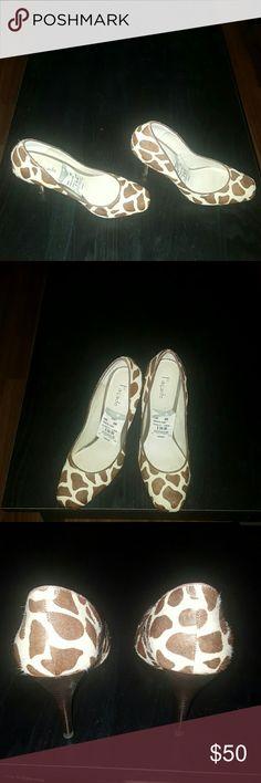Facade Giraffe Pony Pump Giraffe Pony Pump, never worn Facade  Shoes Heels