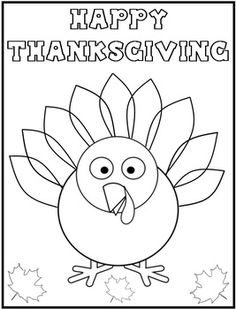 Thanksgiving Coloring Page For The Kids While We Get Dinner On Table