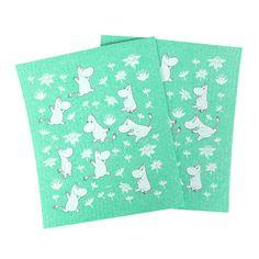 Moomin Green Dishcloth Set $9.00