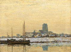 Max Clarenbach 1880 Neuss - 1952 Cologne WINTERLANDSCAPE NEAR DORDRECHT Oil on canvas. 45,5 x 61,5 cm.