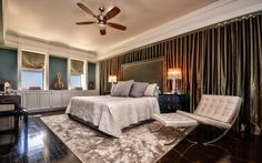 Looking for Transitional Bedroom and Master Bedroom ideas? Browse Transitional Bedroom and Master Bedroom images for decor, layout, furniture, and storage inspiration from HGTV. Bedroom Drapes, Closet Bedroom, Master Bedrooms, Interior Design Usa, Transitional Bedroom, Room Colors, Architecture Design, House, Roman Shades