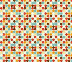 Fox Polkadots fabric by hamburgerliebe on Spoonflower - custom fabric