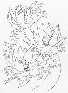 Japanese Lotus Flower Tattoo Designs