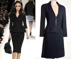 """Tailleur,"""" o terninho feminino"""" é hit de moda inverno : O blazer com saia que nunca sai da moda!"""