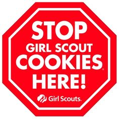 Girl Scouts cookies sign