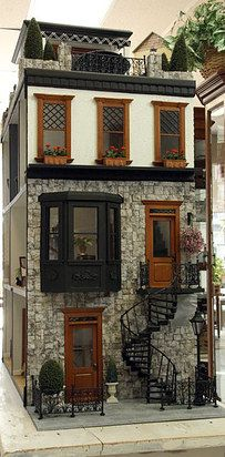 This perfect old New York cobblestone. | 41 Dollhouses That Will Make Wish You Were A Tiny Doll