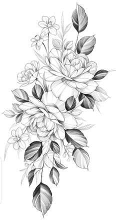 55 Simple Small Flowers Tattoos Drawing Tattoos Ideas For Women This Season Bild Tattoos, Dog Tattoos, Body Art Tattoos, Small Tattoos, Flower Tattoo Drawings, Tattoo Sketches, Drawing Tattoos, Floral Tattoo Design, Flower Tattoo Designs