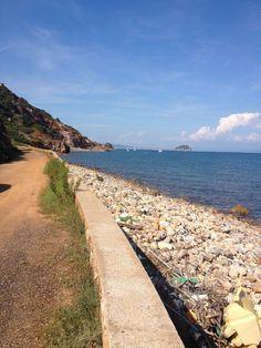 La spiaggia dei Topinetti vista da Capo Pero