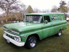 panel truck Hot Rod Trucks, Gm Trucks, Cool Trucks, Chevy Trucks, Pickup Trucks, Vintage Vans, Vintage Trucks, Station Wagon, Classic Trucks