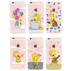 Simpsons iPhone 4S 5S 6S 6Plus Soft Silicon Case Only  $8.99 with Free shipping…