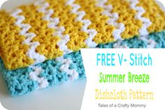 Free V-Stitch Dishcloth Pattern - Patron gratis