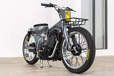 engine in a scooter. - Meet 'Bad Dad' the latest crazy creation. Honda Cub, Scrambler Motorcycle, Motorcycle Art, Classic Motorcycle, Tracker Motorcycle, Motorcycle Design, Honda Bikes, Honda Motorcycles, Concept Motorcycles