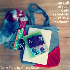 detailed photos of our Glam Totes, by Gussy Sews