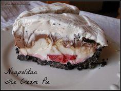 N is for Neapolitan Ice Cream Pie