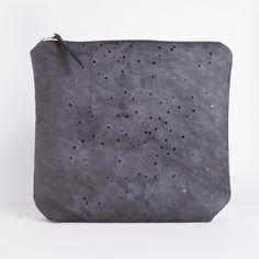 Handmade Environmentally Friendly Vegan Black Confetti Clutch Purse