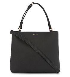 DKNY Bryant Park small Saffiano leather bucket bag. #dkny #bags #shoulder bags #hand bags #leather #bucket #