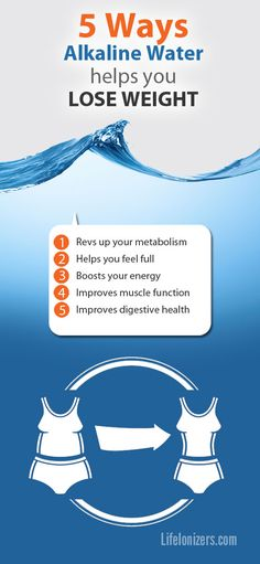 Start your healthy weight loss program today. Drink up, and get ready for the slimmer new you! #weightloss #alkaline #water