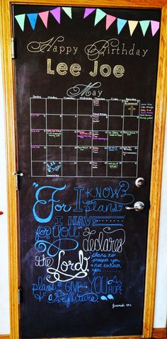 May 2014 Chalkboard Calendar