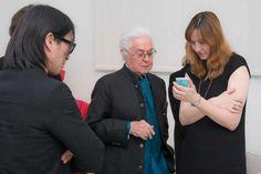 Roberto Capucci with Mote Sinabel Aoki  and Barbara Locatelli