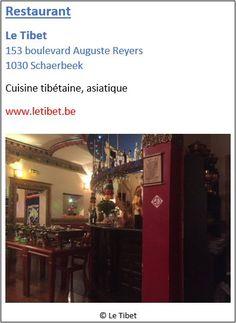 Restaurant Le Tibet - 153 boulevard Auguste Reyers - Schaerbeek