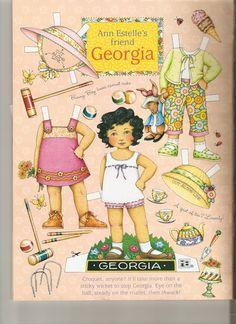 Ann Estelle friend paper doll Georgia 1