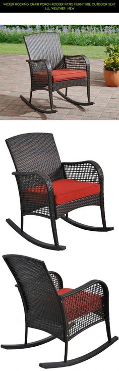 Wicker Rocking Chair Porch Rocker Patio Furniture Outdoor Seat All Weather  NEW #fpv #drone #racing #gadgets #plans #parts #rocking #kit #tech #technology #furniture #patio #chair #camera #shopping #products