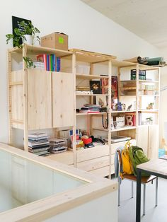 Studio space Creating my dream work space with a large IKEA Ivar shelf unit<br>