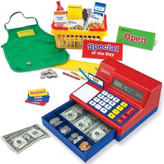 Learning Resources Lets Shop! Market Set, Classic Cash Register, Play Food with Shopping Cart, 95Piece, Ages 3 ** Want additional info? Click on the image. (This is an affiliate link)