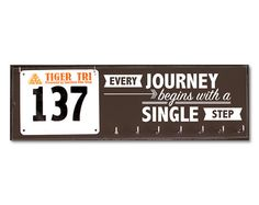 Race Bib and Medal Holder - Every Journey Begins with a Single Step on Etsy, $42.50