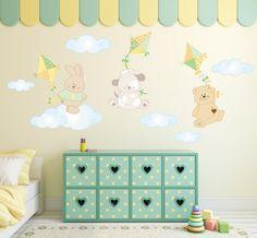 Adesivi Murali Bambini, Decorazioni Camerette, Kit Aquiloni : Decorazioni per…