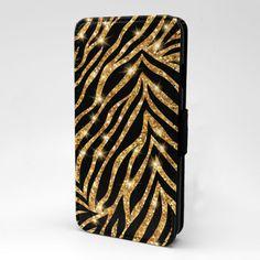 Glitter Tiger Pattern Flip Case Cover For Mobile Phone - S1713 | eBay
