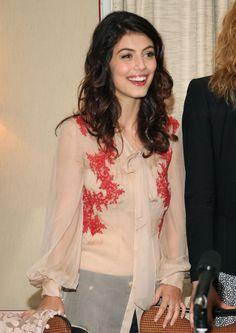 Alessandra Mastronardi's pretty curls