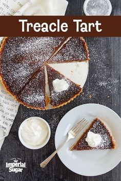 Harry Potter Treacle Tart - Fans of J. K. Rowling's beloved books will recognize Harry's favorite #dessert - the #Treacle #Tart!  A traditional #English #recipe, a Treacle Tart is made with a thin and flaky #pastry shell filled with golden #syrup, fresh #breadcrumbs, and #lemon, then baked to perfection. Make for a Harry Potter viewing #party, #Halloween party or to celebrate after reading the books. For more pie  tart recipes visit www.imperialsugar.com. #imperialsugar #harrypotter English Desserts, British Desserts, English Food, English Recipes, English Sweets, British Recipes, Tart Recipes, Baking Recipes, Dessert Recipes