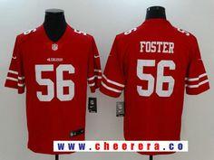 Men's San Francisco 49ers #56 Reuben Foster Red 2017 Vapor Untouchable Stitched NFL Nike Limited Jersey