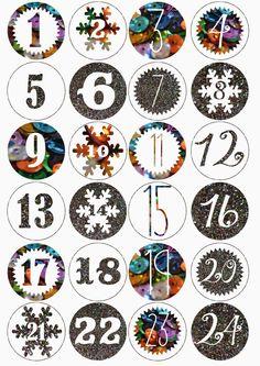 Printable advent numbers