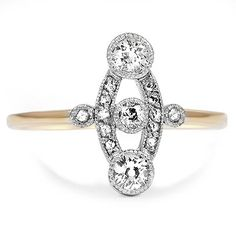 18K Yellow Gold The Prisca Ring from Brilliant Earth